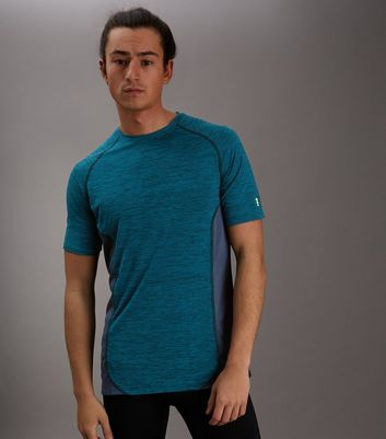 Blue Marl Panelled Running T-Shirt