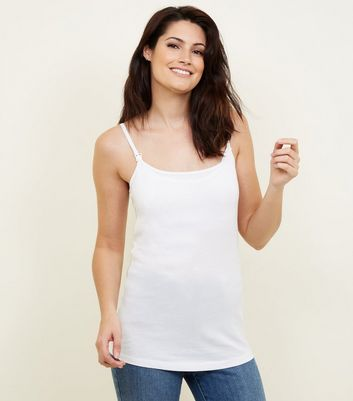 Maternity White Nursing Vest
