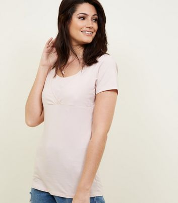 Maternity Pink Nursing T-shirt