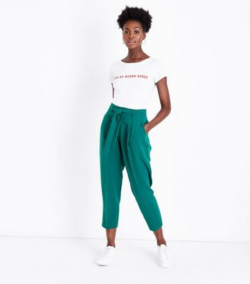 Green Tie Waist Trousers