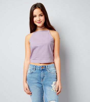 Teens Lilac High Neck Cami