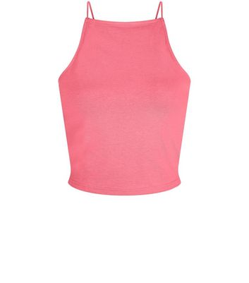 Teens Bright Pink High Neck Cami