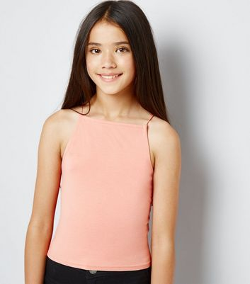 Teens Coral High Neck Cami