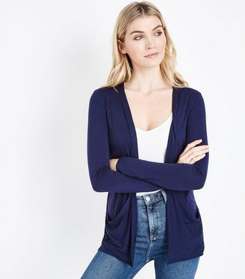 Navy Double Pocket Cardigan