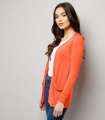 Orange Boyfriend Cardigan