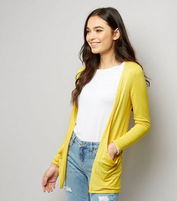 Yellow Boyfriend Cardigan