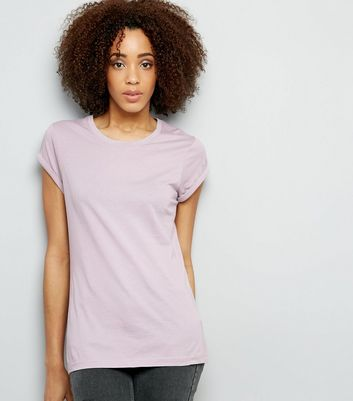 Tall Lilac Rolled Sleeve T-shirt