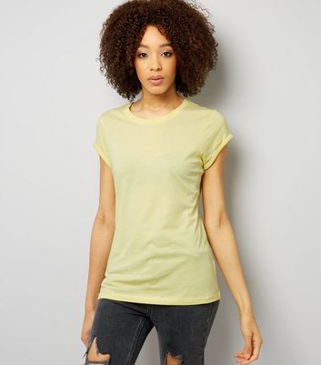Tall Yellow Rolled Sleeve T-Shirt