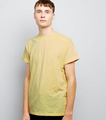 Yellow Roll Sleeve T-Shirt