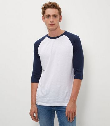 Navy 3/4 Raglan Sleeve T-Shirt