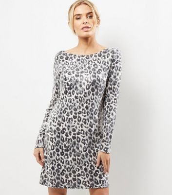 Mela White Leopard Print Bodycon Dress