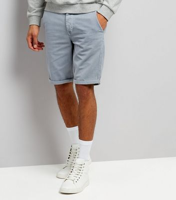 Charcoal Grey Slim Leg Chino Shorts