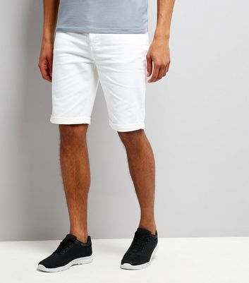 White 5 Pocket Slim Leg Shorts