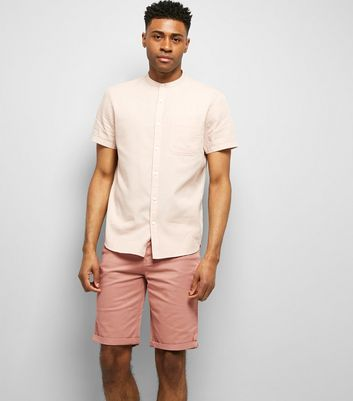 Pink 5 Pocket Slim Leg Shorts