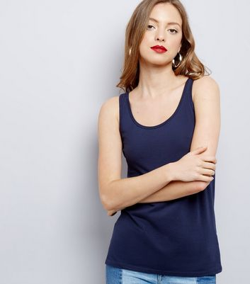 Navy Scoop Neck Vest
