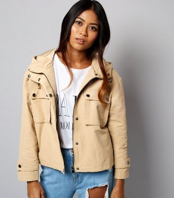 Petite Camel Cropped Anorak