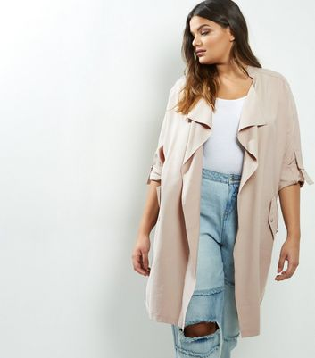 Curves Stone Waterfall Duster Coat