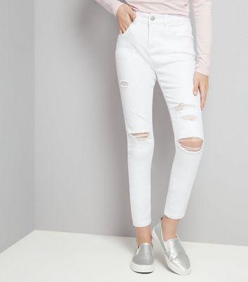 jeans ados jean skinny d chir et motifs new look. Black Bedroom Furniture Sets. Home Design Ideas