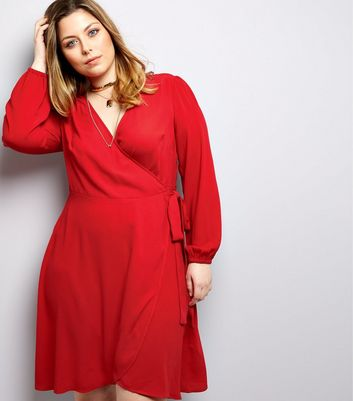 Curves - Robe portefeuille rouge