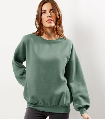 Light Green Balloon Sleeve Sweater