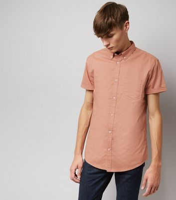 Pink Cotton Short Sleeve Shirt