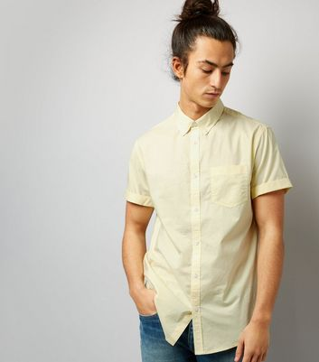 Yellow Cotton Short Sleeve Shirt