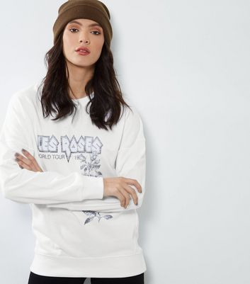 Tall White Les Roses Balloon Sleeve Jumper