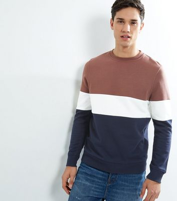Light Purple Colour Block Sweater
