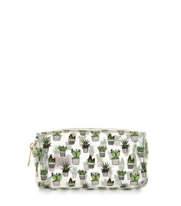 Green Cactus Make Up Bag