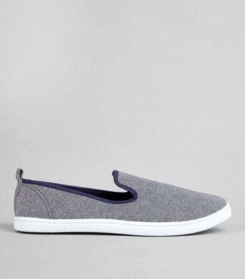 Light Blue Canvas Plimsolls