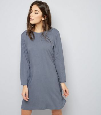 JDY Blue Stripe Long Sleeve Dress