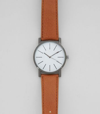 Brown Leather-Look Watch