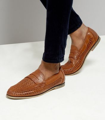 Tan Woven Loafers