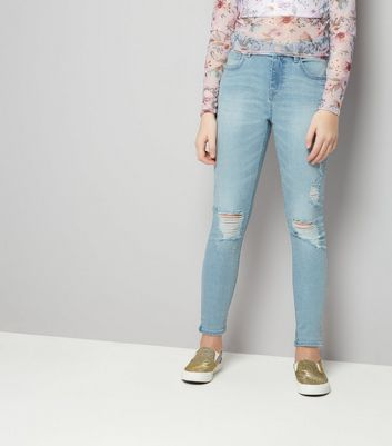 Teens Light Blue Ripped Jeans