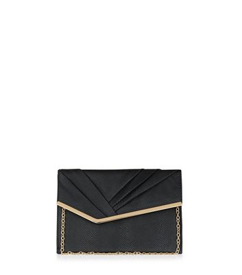Black Pleated Front Clutch
