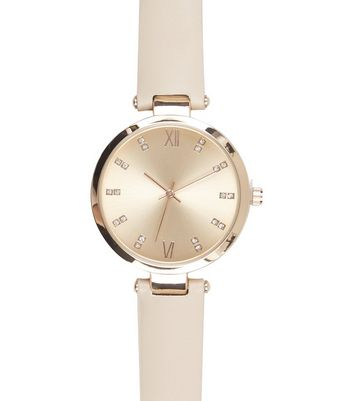 Rose Gold Diamante Dial Watch