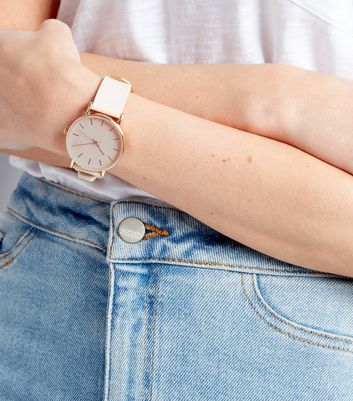 White Ultra Slim Watch