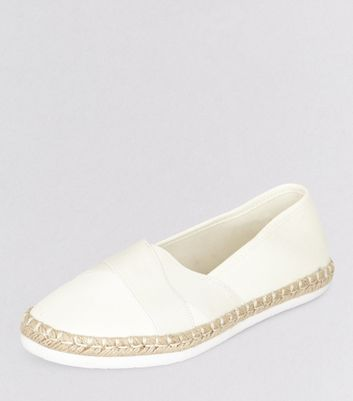 White Elasticated Top Espadrilles