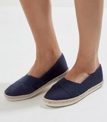 Navy Elasticated Top Espadrilles