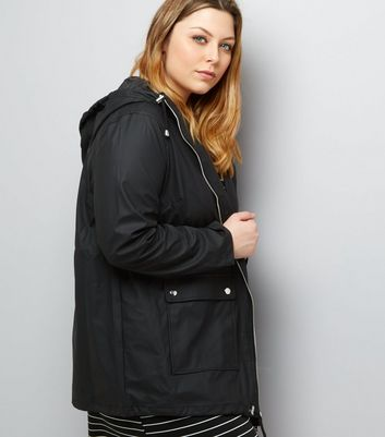 Curves Black Matte Rain Coat