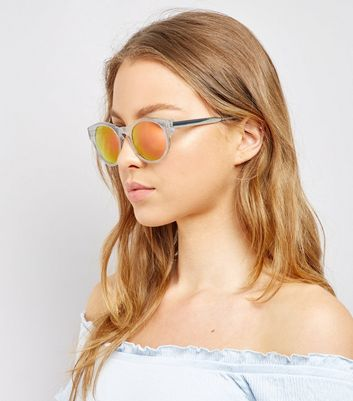 Transparent Holographic Lense Sunglasses