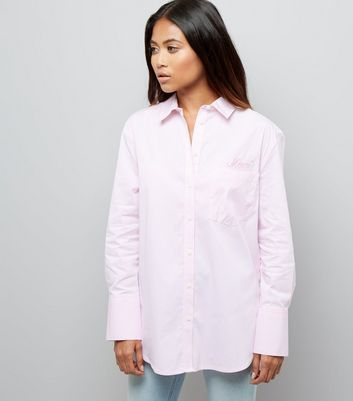 Petite Pink Stripe Wide Sleeve Shirt