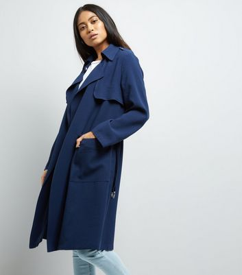 Petite Navy D Ring Utility Mac Jacket