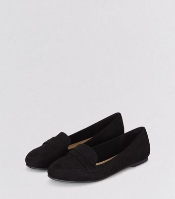 Black Suedette Loafers