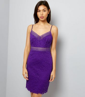 Purple Lace Bodycon Dress
