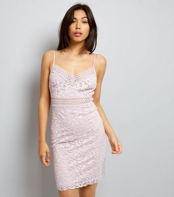 Light Purple Lace Bodycon Dress