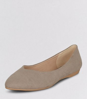 Teens Light Brown Suedette Pointed Shoes