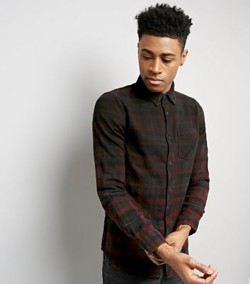 Burgundy Ombre Check Shirt