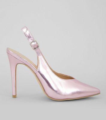 Pink High Heel Shoes | Pastel & Shell Pink High Heels | New Look