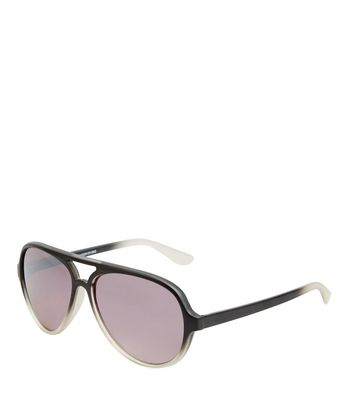 Black Ombre Pilot Sunglasses
